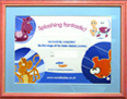 Swimming Certificate framed